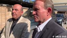 Ukrainische Politiker Wadim Rabinowitsch und Wiktor Medwedchuk