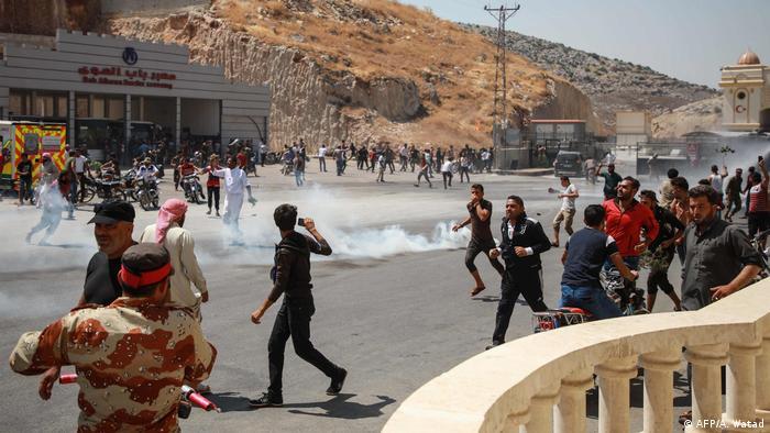 Syrien Türkei Grenzübergang Bab al-Hawa Proteste