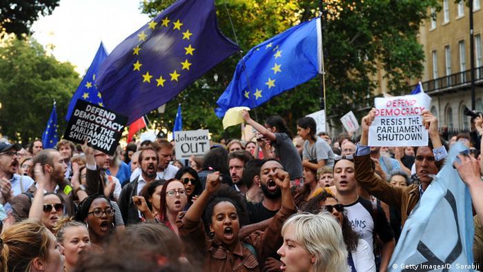 London Protest gegen Boris Johnson und Brexit (Getty Images/D. Sorabji)