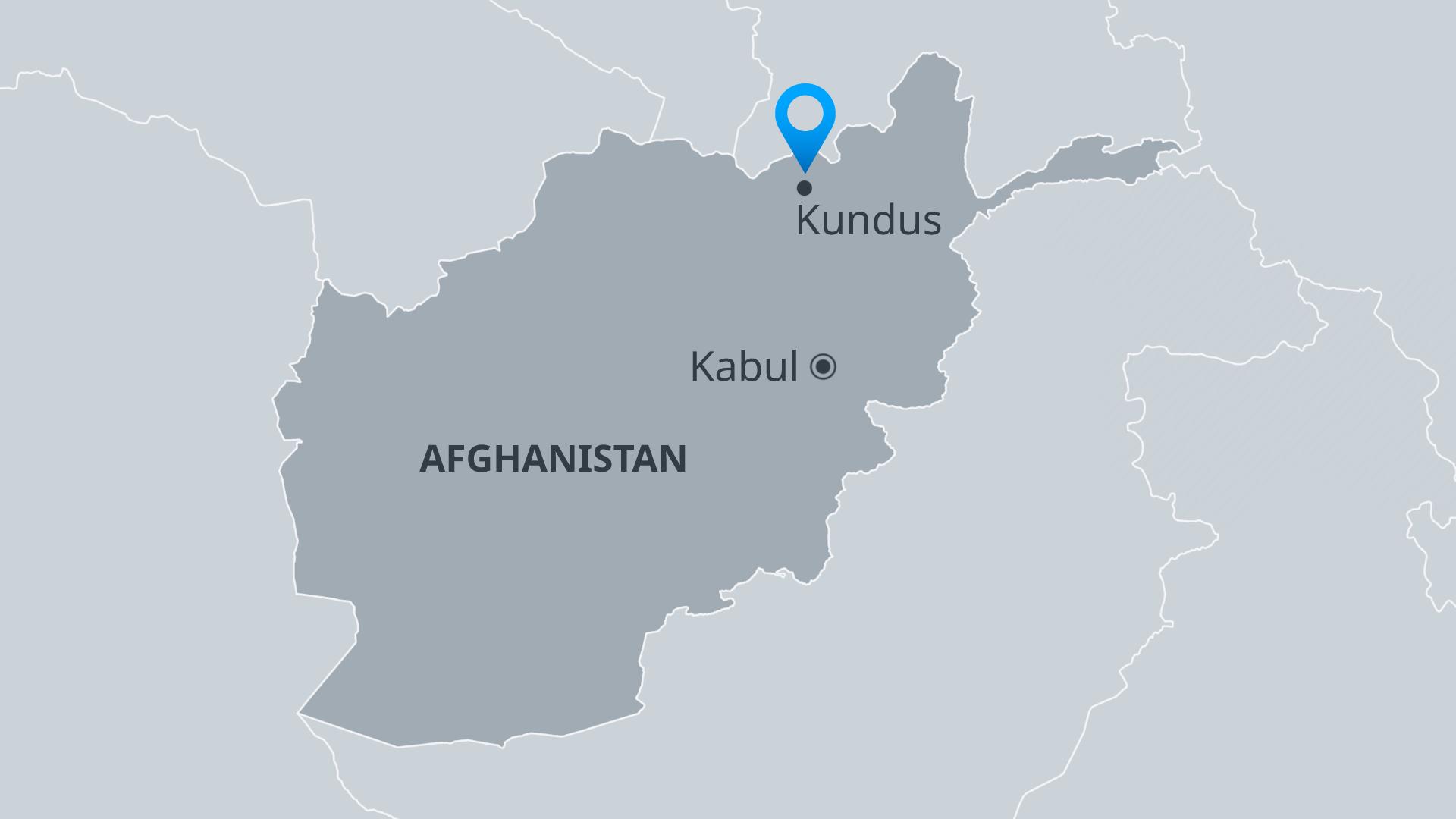 Infografik Karte Afghanistan Kundus DE