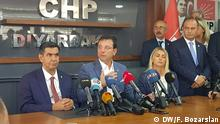 Türkei Diyarbakir | Ekrem Imamoglu bei Pressekonferenz