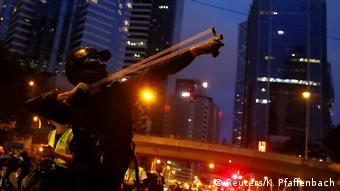 Hongkong Protest Demonstrant (Reuters/K. Pfaffenbach)