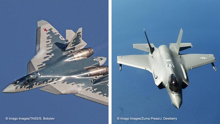 Bildkombo   SU-57 und F-35