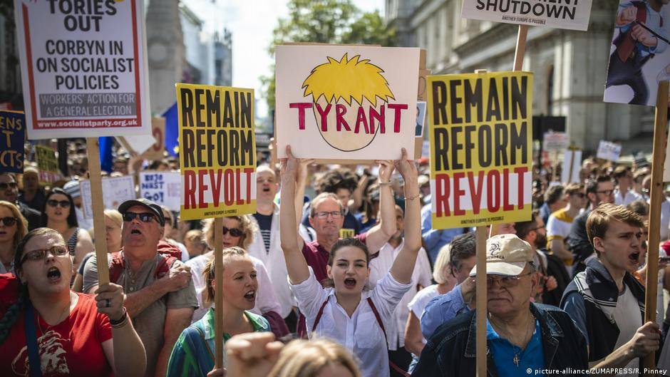 UK holds #StopTheCoup rallies against Johnson's suspension of Parliament