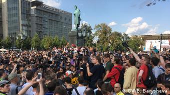 Russland | Protestkundgebung gegen politischen Repressalien in Moskau (DW/E. Barysheva)