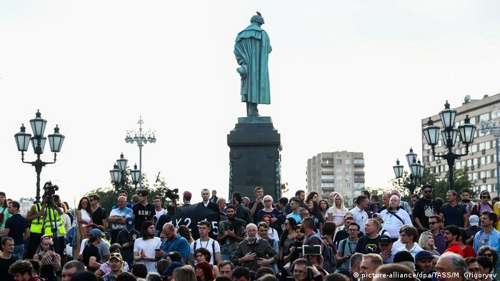 Saturday's protest is the latest since July, when people took to the streets to reject the barring candidates from the Moscow City Council race