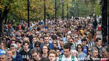 Russland | Protestkundgebung gegen politischen Repressalien in Moskau