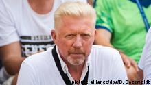 Tennis - Hamburg European Open - Boris Becker verfolgt Spiel