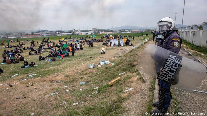 Griechenland | Konflikte zwischen Polizei und Flüchtlingen