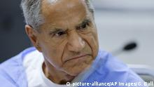 Sirhan Sirhan reacts during a parole hearing Wednesday, Feb. 10, 2016, at the Richard J. Donovan Correctional Facility in San Diego. For the 15th time, officials denied parole for Sirhan Sirhan, the assassin of Sen. Robert F. Kennedy, after hearing Wednesday from another person who was shot that night and called for the release of Sirhan. (AP Photo/Gregory Bull, Pool) |