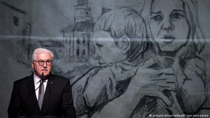 Президент ФРГ Франк-Вальтер Штайнмайер на памятном мероприятии, посвященном 80-летию вторжения Германии в Польшу