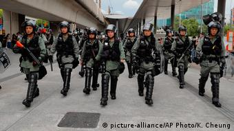 Hongkong Protest | Protestierende am Flughafen von Hongkong