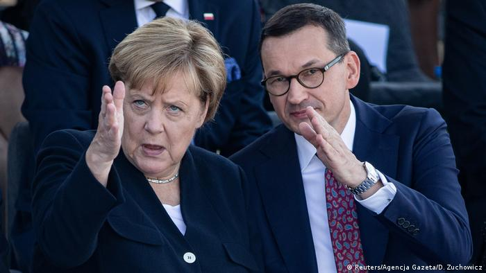 Angela Merkel and Mateusz Morawiecki