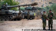 Israel Grenze Libanon Soldaten Artillerie