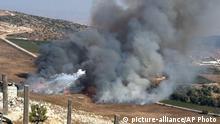 Libanon Israel Artillerie Beschuß