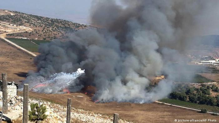 Smoke rises from IDF shells fired into Lebanon