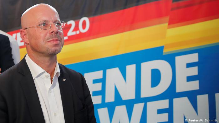 AfD's Andreas Kalbitz at a Brandenburg election event (Reuters/A. Schmidt)