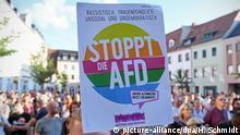 Sachsen AfD-Wahlkampf in Döbeln - Protest