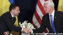 Warschau Treffen Zelenskiy Pence Ukraine USA