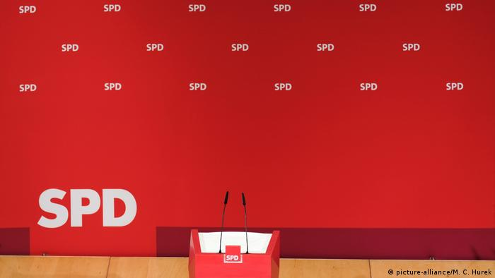 Deutschland SPD-Bühne im Willy-Brandt-Haus in Berlin (picture-alliance/M. C. Hurek)