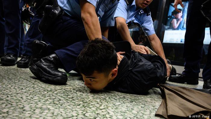 China Proteste in Hongkong (AFP/P. Fong)