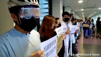 Hongkong China Protest Schüler Studenten