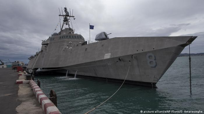 A US warship docked in Thailand for joint ASEAN naval drills