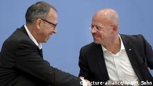 Bundespressekonferenz AfD Jörg Urban und Andreas Kalbitz