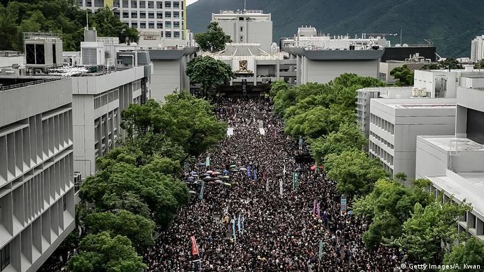 Hongkong   Studenten Protestieren