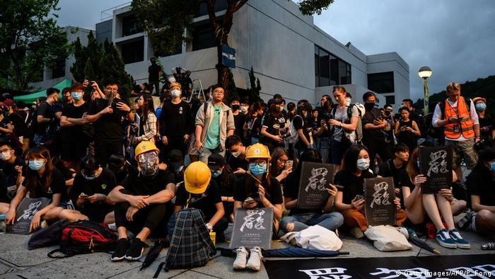 Hongkong   Schüler und Studenten Protestieren