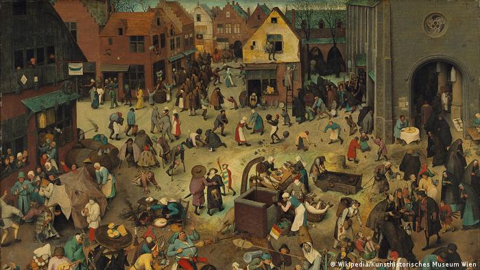 painting by Pieter Bruegel the Elder shows people milling around a large square (Wikipedia/Kunsthistorisches Museum Wien)