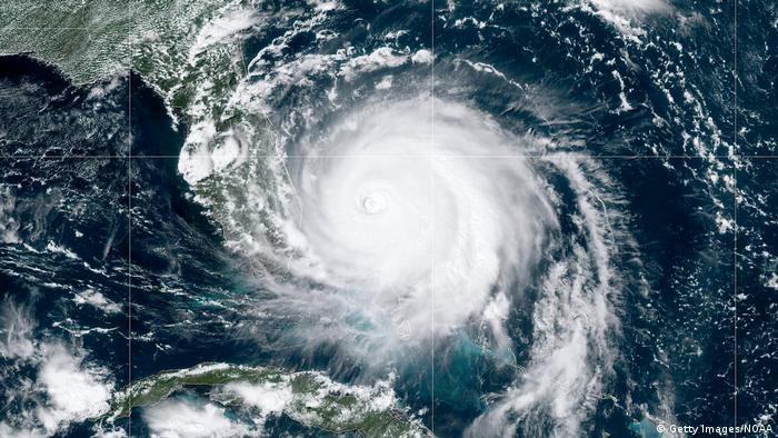 Satelliten-Aufnahme des Hurricanes Dorian (Getty Images/NOAA)