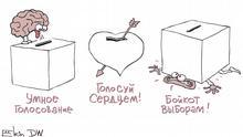 Karikatur von Sergey Elkin | Stadtratswahlen in Moskau