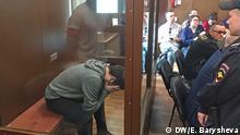Russland Moskau Danila Begletz vor Gericht