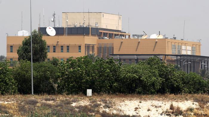 The US embassy compound is pictured in Baghdad's Green Zone on May 20, 2019