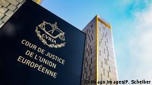 Luxemburg Schild Europäischer Gerichtshof EuGH