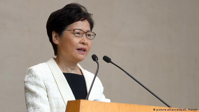 Hongkong Regierungschefin Carrie Lam (picture-alliance/dpa/L. Hanxin)