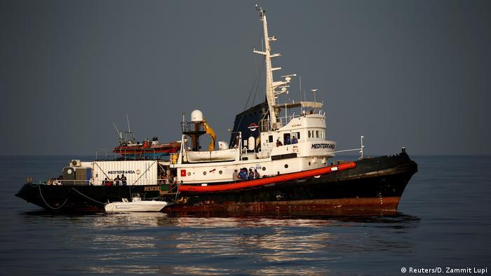 Italien Nähe Lampedusa | Rettungsschiff Mare Jonio | Flüchtlinge
