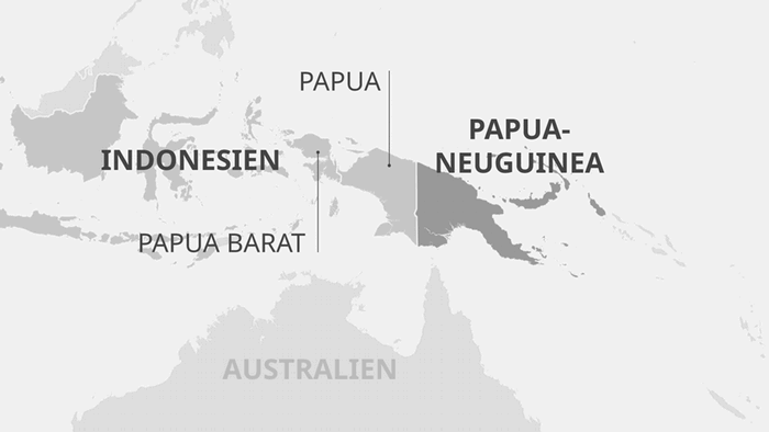 Karte Papua-Neuguinea mit Indonesien DE