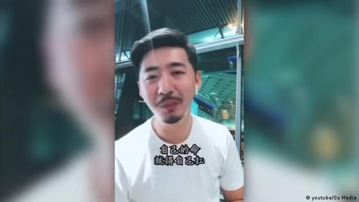 Screenshot Youtube Chen Qiushi aus China - Hongkong
