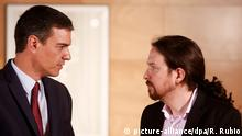Pedro Sanchez and Pablo Iglesias, Spain