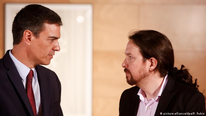 Pedro Sanchez and Pablo Iglesias, Spain