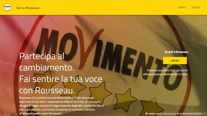 Screenshot | vote.rousseau.movimento5stelle.it
