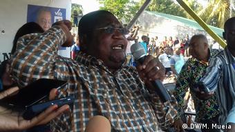 Mosambik Wahlkampf Ossufo Momade, Vorsitzender von RENAMO