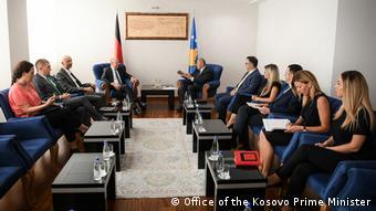 Kosovo Treffen Peter Beyer, MdB CDU & Premierminister Ramush Haradinaj (Office of the Kosovo Prime Minister)