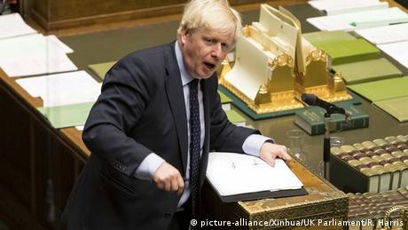 Boris Johnson en el Parlamento