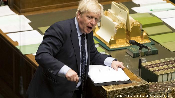 Boris Johnson en el Parlamento