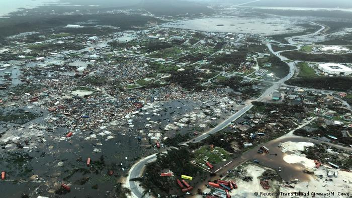 Aerial footage of the devastation in the Abaco Islands after Hurricane Dorian.