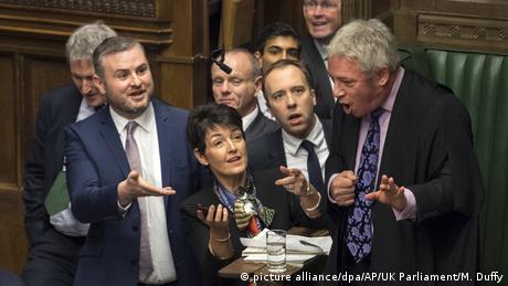 Britischer Parlamentspräsident stemmt sich gegen Johnson (picture alliance/dpa/AP/UK Parliament/M. Duffy)