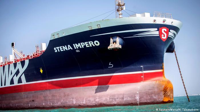 Танкер Stena Impero близ иранского порта Бендер-Аббас